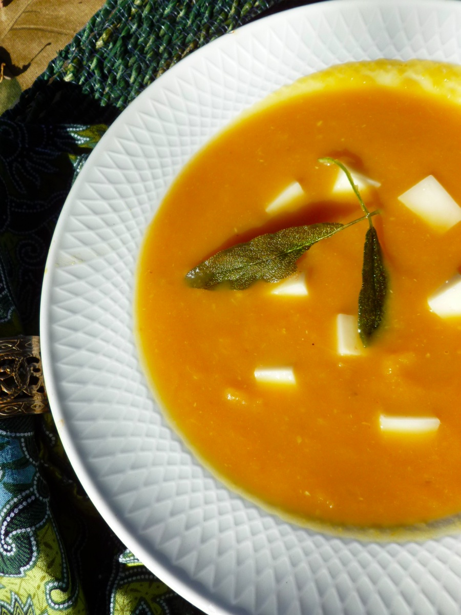 Winter Squash Soup with Sage at FreshBitesDaily.com