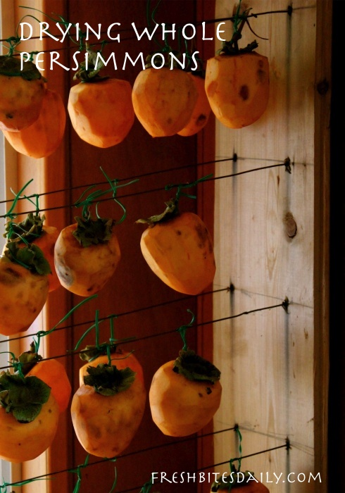 Dry your persimmons in slices and check out how our neighbor dries them whole