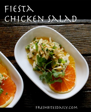 "This ""fiesta"" chicken salad is so simple that the party will start in about 30 minutes..."