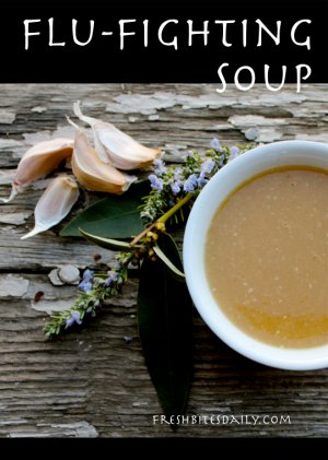 This soup will fight colds, flu, and with four globes of garlic, maybe even vampires. (It may even be better than antibiotics...)
