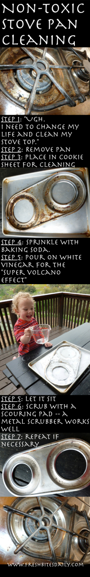 A non-toxic (and fun) way to clean your stove top