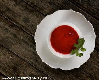 A spicy twist on beet soup