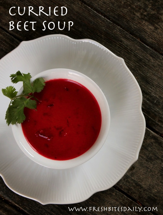 A spicy twist on beet soup