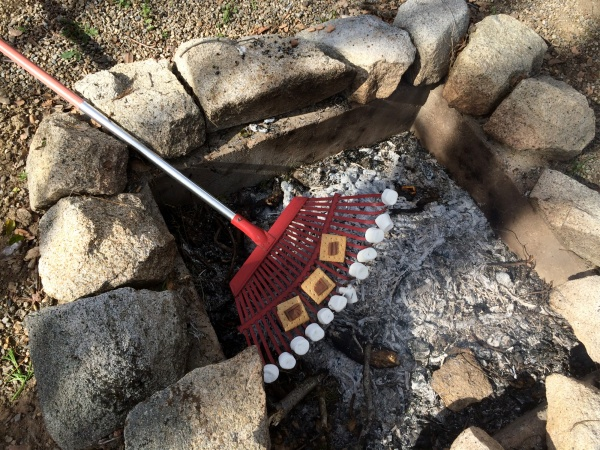 """S'mores on a rake? Brilliant or """"Pinterest fail""""? You decide…"""