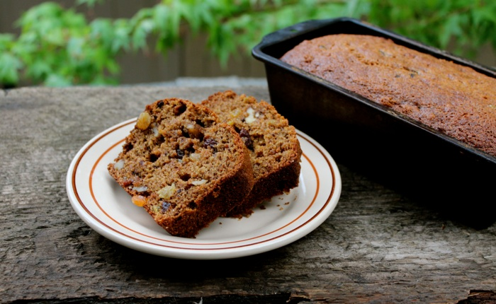 Our own rendition of James Beard's persimmon bread