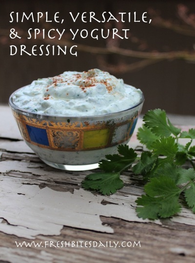 A simple, versatile, and spicy yogurt dressing