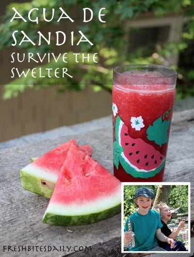 Agua de sandia: Refreshment in a glass