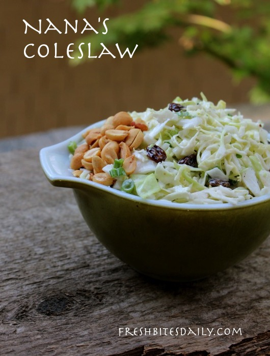 My Nana's coleslaw, a lighter and brighter slaw