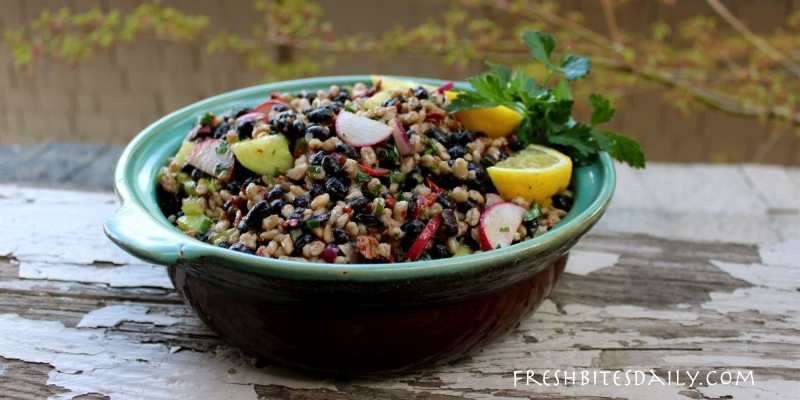 This black bean and barley salad was darned near instant with planned leftovers