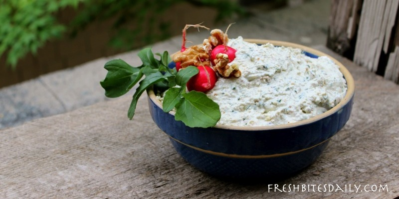 A probiotic walnut dip for your next casual gathering