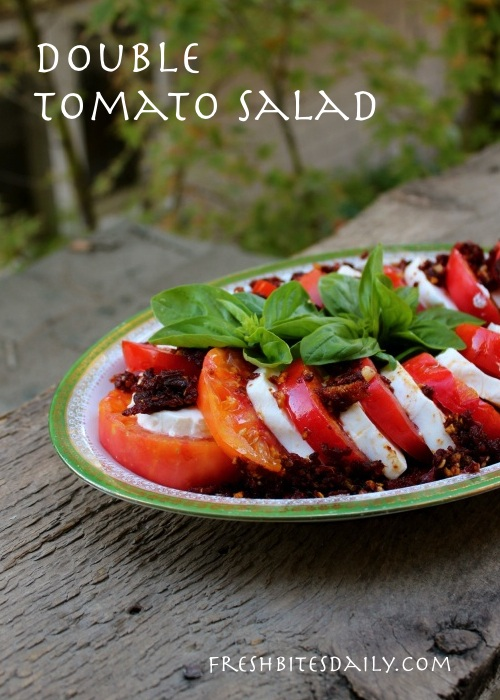 """Double Tomato Salad"" -- Caprese salad with a twist"