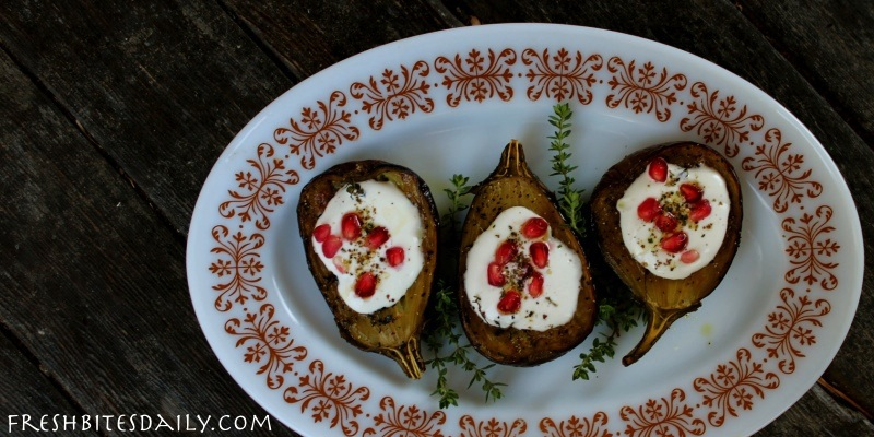 Roasted eggplant with a creamy twist