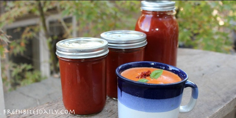 Homemade tomato soup concentrate — Your solution to canned tomato soup