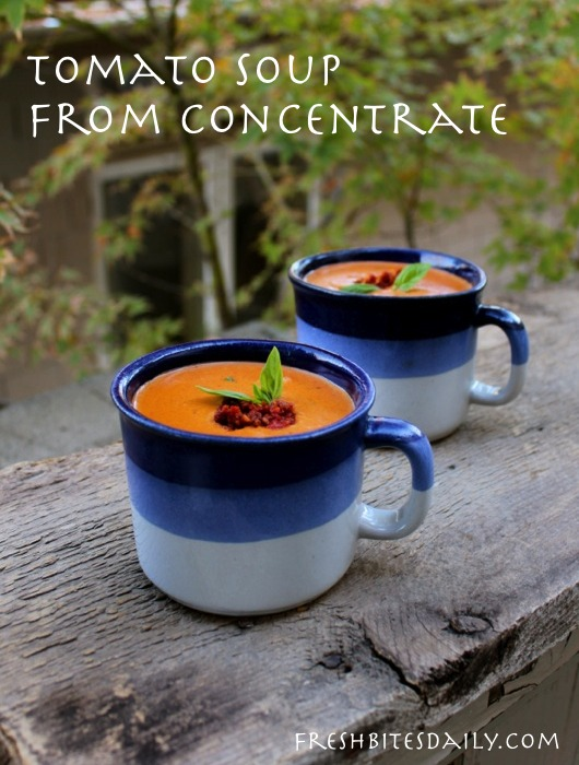 Frederick's tomato soup, a cooking lesson for my grandson