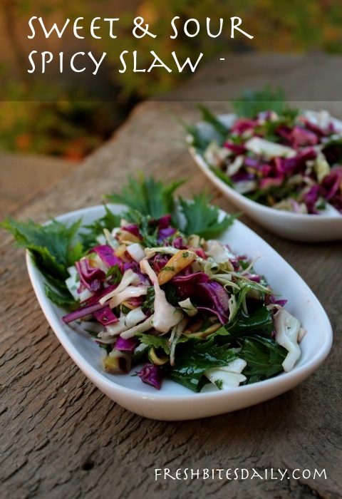 Sweet & sour spicy slaw to combat your salad boredom