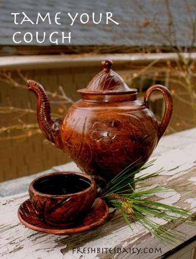 A fun wintertime tea that you can make from your holiday decorations (it may even help your cough)