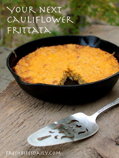"A cauliflower frittata with some serious ""wow"" factors"