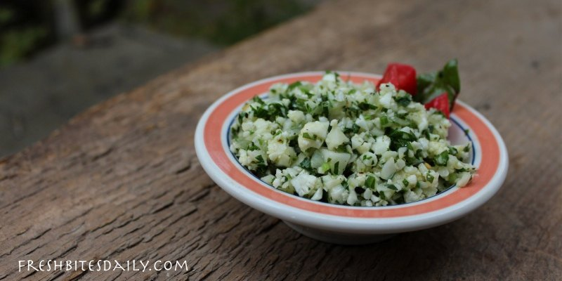 Cauliflower tabouli: A modern rendition of the classic