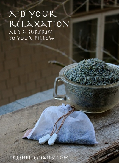 Add a little surprise to your pillow to aid in your relaxation
