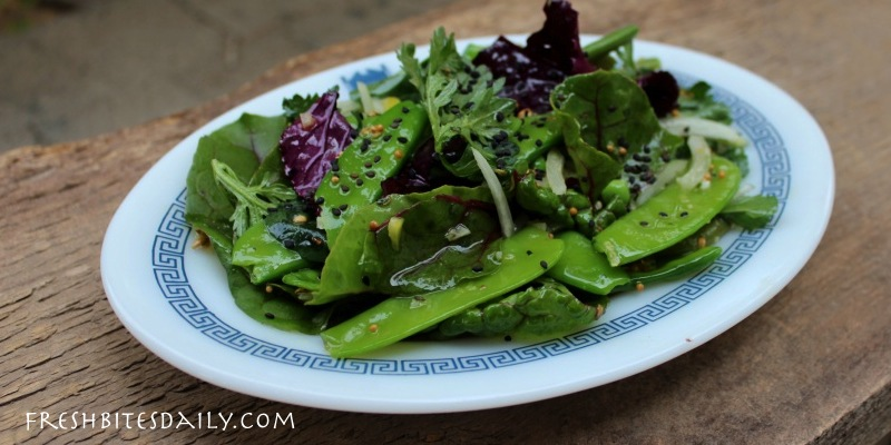 A green salad with a touch of India to break you out of your salad boredom