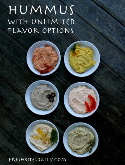 Hummus with unlimited flavor options