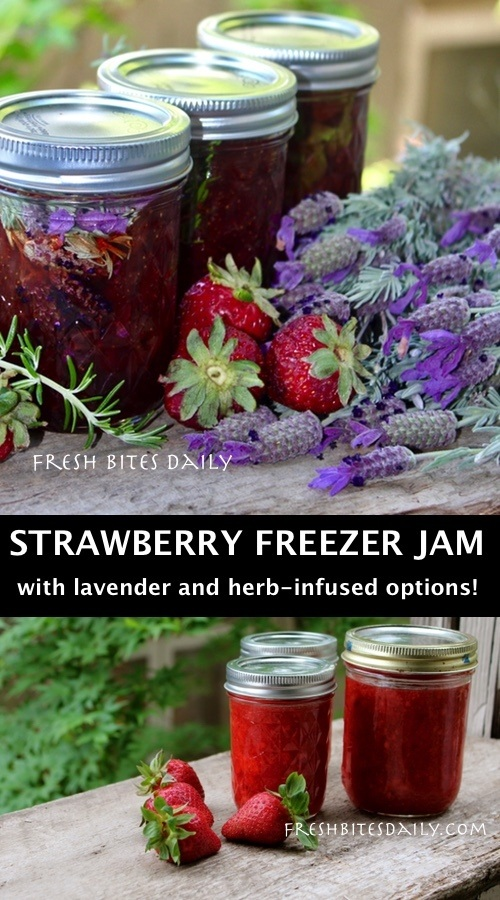 Strawberry Freezer Jam: A Quick No-Canning Solution, Honey and Herb Options