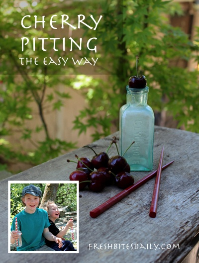 Your best cherry-pitting method. It may just change the way you eat cherries.