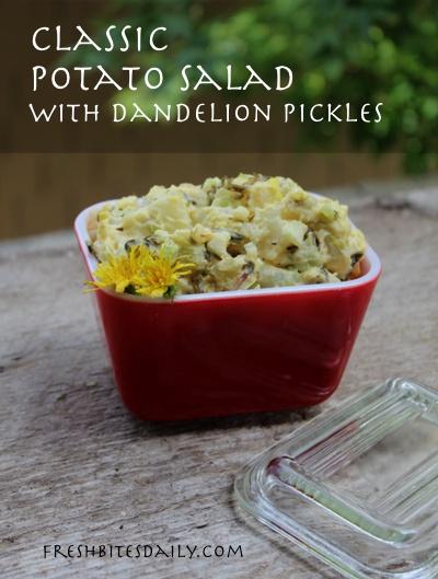 Potato dandelion salad -- A twist on the classic potato salad