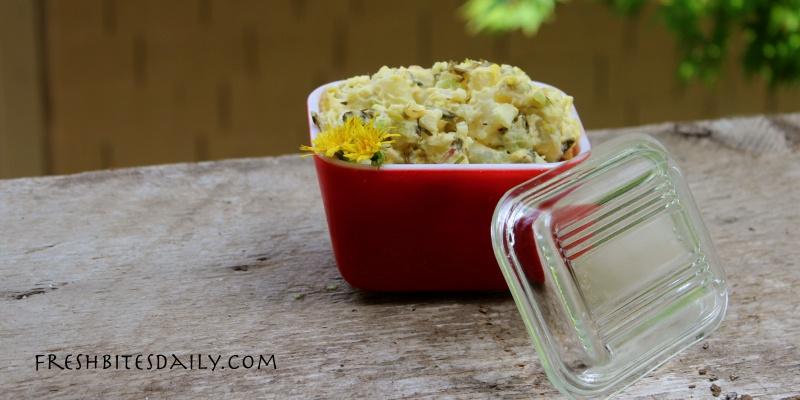 Potato salad with dandelion — A twist on the classic potato salad