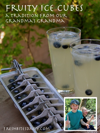 Fruity ice cubes -- A tradition from our grandma's grandma