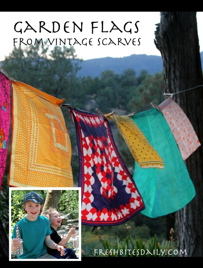 """Garden flags, a vintage scarf project, """"the opposite of a tree"""", and more..."""