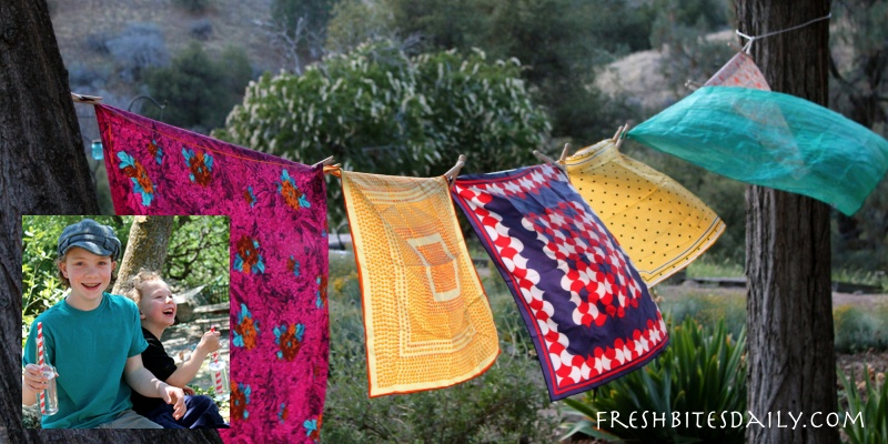 "Garden flags, a vintage scarf project, ""the opposite of a tree"", and more…"