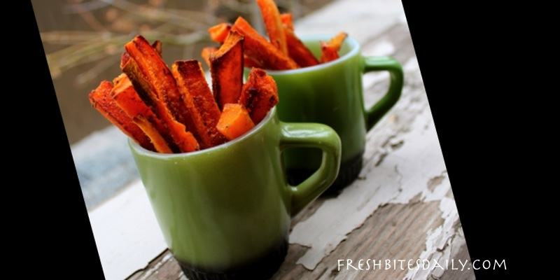 Roast your sweet potatoes up like French fries, French fries with beta carotene, clearly a health food…