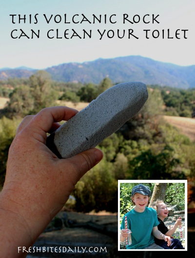 This volcanic rock will clean your toilet ;)