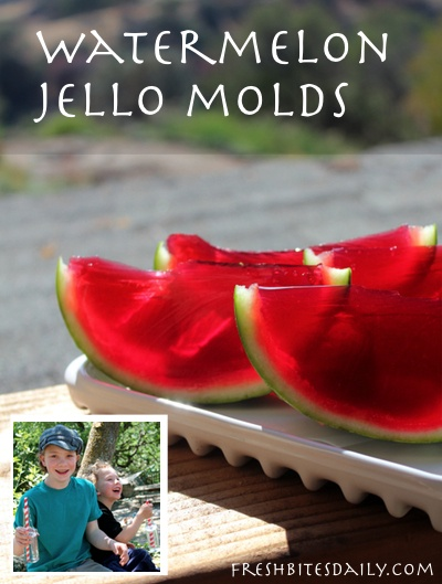 "Watermelon ""jello"" mold: So much summertime fun!"