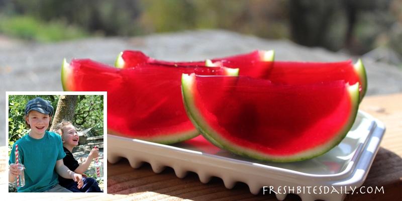 """Watermelon """"jello"""" mold: So much summertime fun!"""