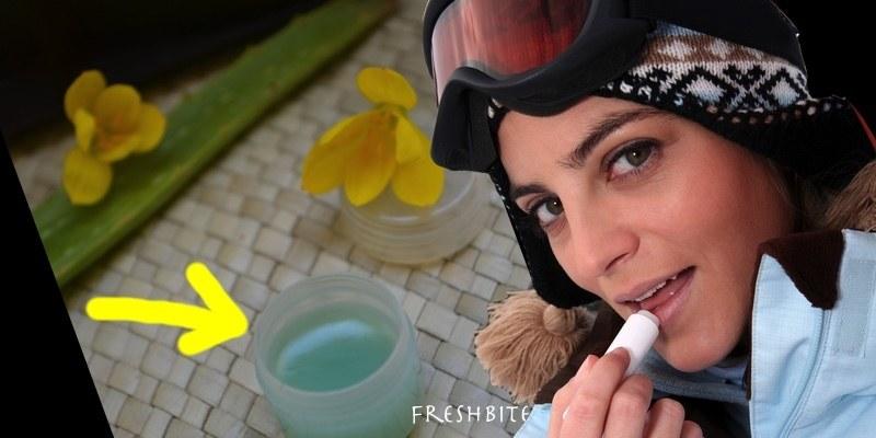 Homemade lip balm, a chapped lips remedy