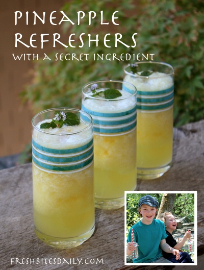 A Pineapple Refresher and a Dessert Drink (with a Secret Ingredient) from the Half Pint Hacks