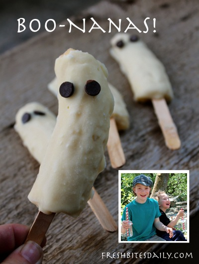 Booo-Nanas: A Halloween compromise treat for those trying times...