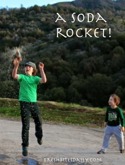 "A make-shift rocket (aka ""a great use for soda!"")"