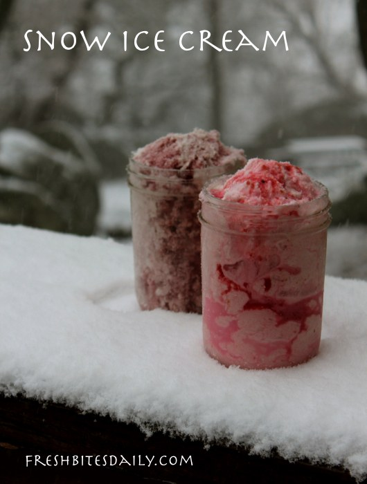 Try some snow ice cream before winter comes to an end
