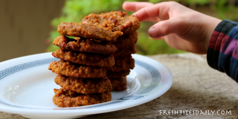 A gluten-free quinoa pumpkin breakfast cookie