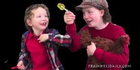 Kids taste scorpion candy