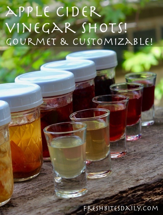 Apple Cider Vinegar Drinks! ACV Shots, Gourmet and Customized!